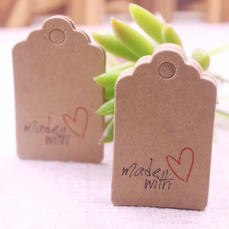 5x3cmhandmade Hang Tag Kraft Paper Thank You Gift Tag Label For