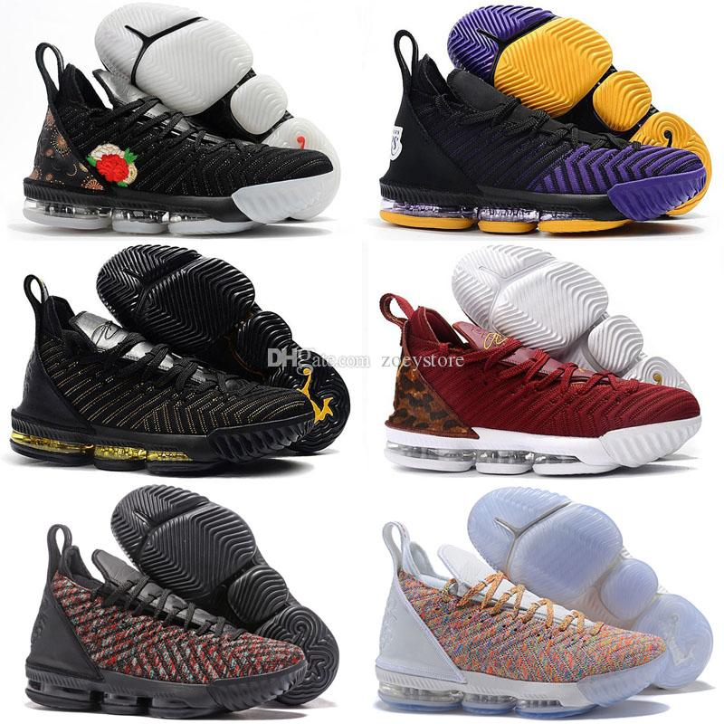 6bb0eda06546f 2019 2019 Rainbow CNY Lebron James 16 Black 1 THRU 5 Men Shoes I Promise  16s Black Gold Mens Trainers Sports Designer Sneakers 40 46 From Zoeystore