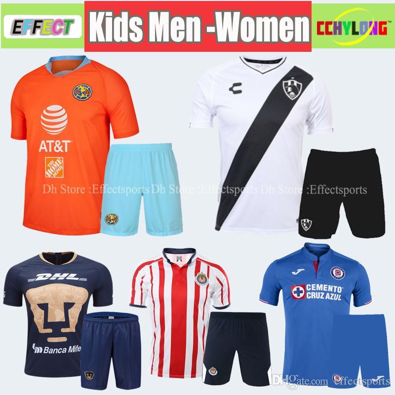 70e32d220b6 2019 2019 Club America Cruz Azul Men Kits Soccer Jersey LIGA MX 18 19 20  NAUL Tigrs UNAM 2018 Chivas Club De Cuervos Adult Kids Football Sets From  ...