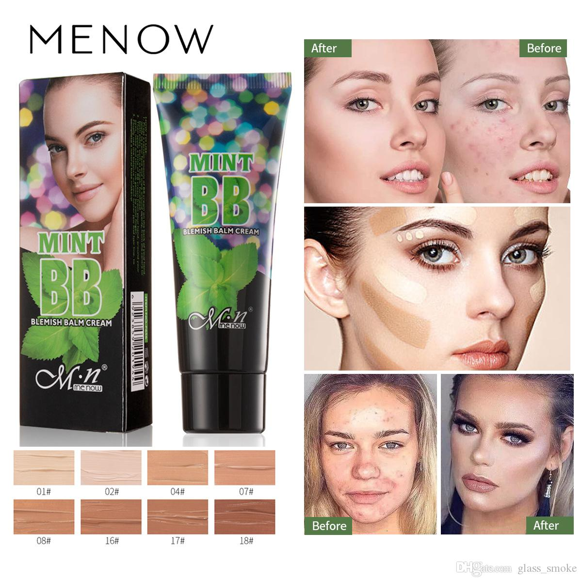 Menow Liquid Foundation Waterproof Natural Face Foundation BB Cream Moisturizing Concealer Nude Makeup Face Beauty Concealer Cosmetic