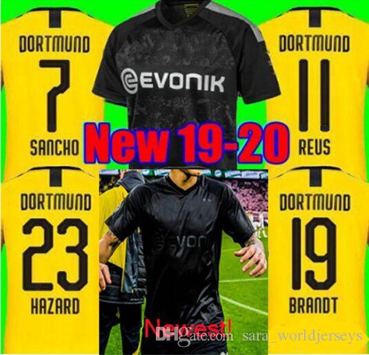 Maillots football 2020 REUS Borussia Dortmund 100th Anniversary Blackout Kit soccer jerseys WITSEL Goalkeeper camiseta Weidenfeller Shirt