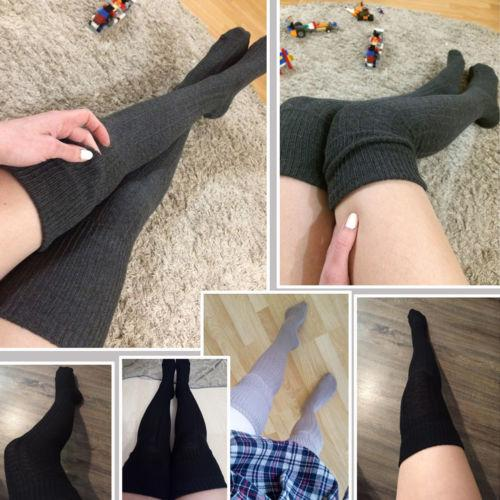 Womens Girls Cable Knit Extra Long Boot Stockings Over Knee Thigh High Warm Stocking Winter Warm Clothing