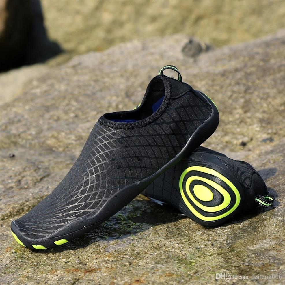 3ae58a9ea3 2019 New Men Women Outdoor Aqua Shoes Lightweight Sport Walking Trekking  Yoga Swimming Beach Water Shoes Soft Quick Dry Wading #45348 From  Feiteng006, ...