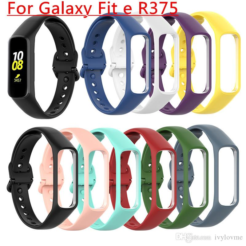 New Smart Watch Band Wrist Band Strap Fit e R375 Watchband TPU Adjustable Bracelet Sports Replacement for Samsung Galaxy Fit-e Smart Band
