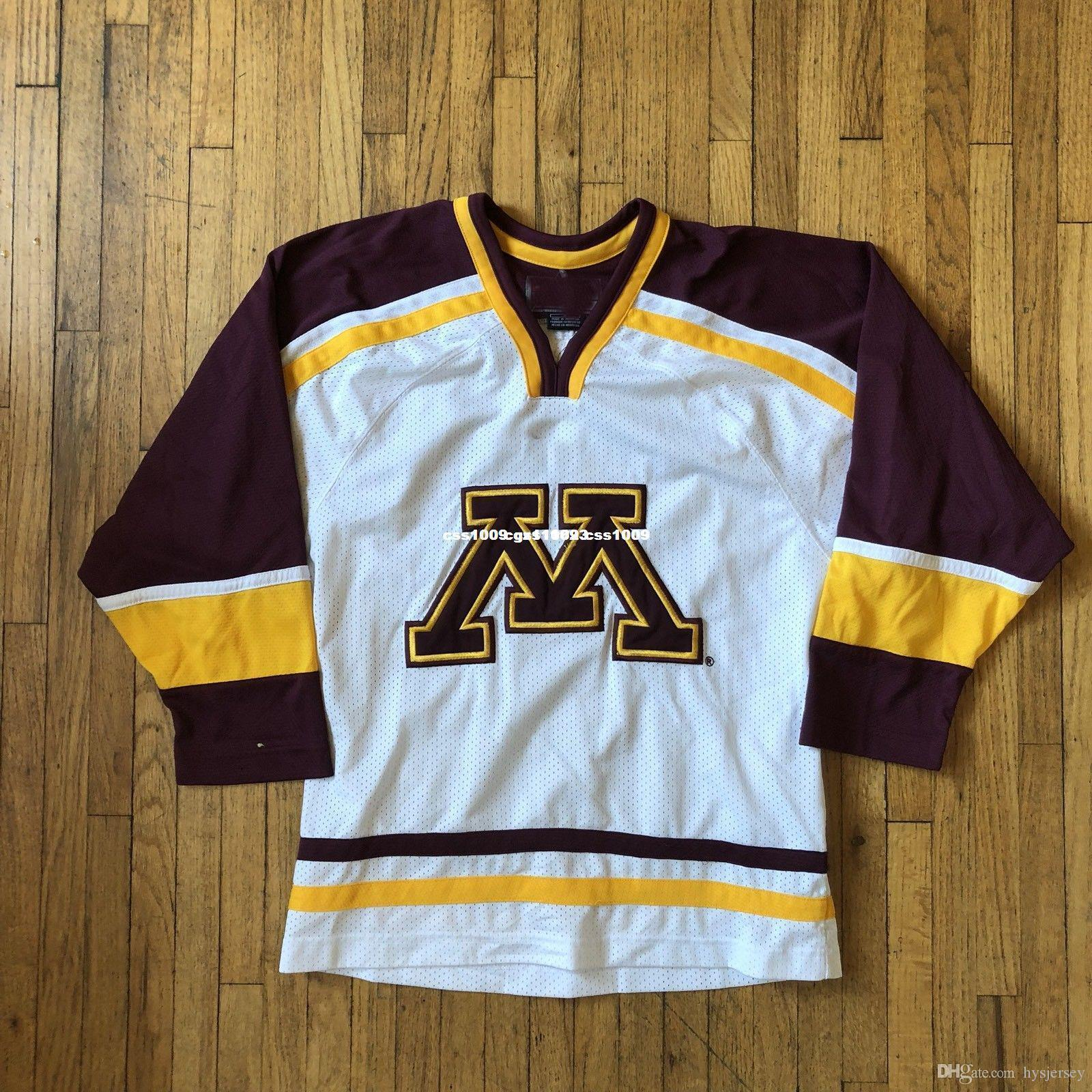 bf8893c4a Cheap Custom Minnesota Golden Gophers Hockey Jersey NCAA Stitched Mens  Retro Jerseys UK 2019 From Hysjersey