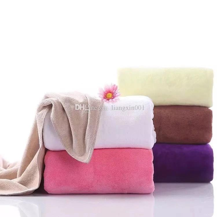 Microfiber Bath Towels For Adults Magic Bathrobes Birthday Gifts Lady Beach Towel Quick Drying Washcloth Thick70x140cm Small