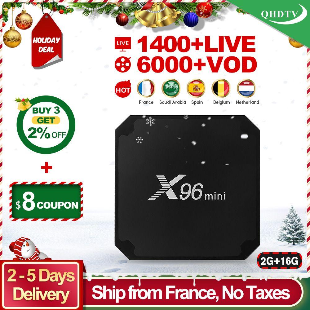 X96 mini IPTV France Arabic Box Android 7 1 2GB 16GB S905W with QHDTV IPTV  Subscription IPTV Belgium Dutch France Arabic IP TV