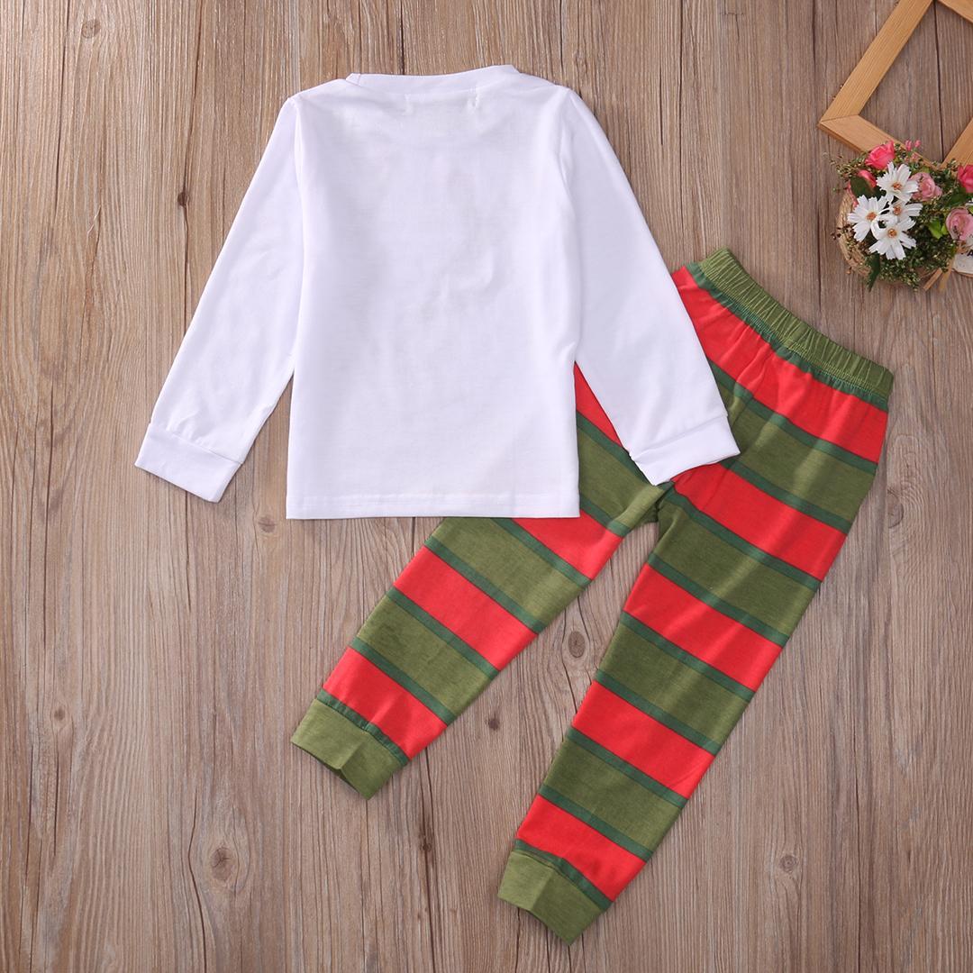 Vêtements de nuit de Noël tout-petits bébé enfants bébé fille pyjama Vêtements enfants Ensembles de Noël vêtements de nuit Pyjama Set