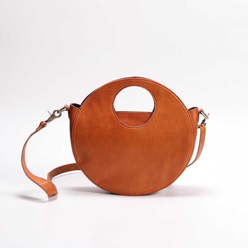 2019 Latest Round Handbag Women Shoulder Sling Bags Handmade Retro  Messenger Crossbody Bags Office Lady Hand Small Totes Wholesale Purses  White Handbags ...