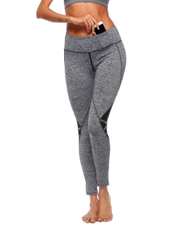 96c4efed893 Yoga Pants with Waist Pocket High Waist Running Pants Tights Tummy Control  Workout High Stretch Yoga Leggings Tights