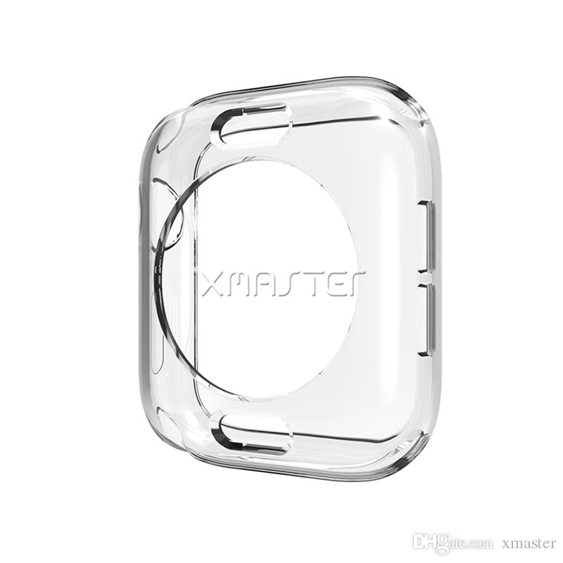 For iWatch Clear Bumper Cover Soft Transparent TPU Frame for Apple Watch Series 4 3 2 44mm 40mm 42mm 38mm with Retail Packaging