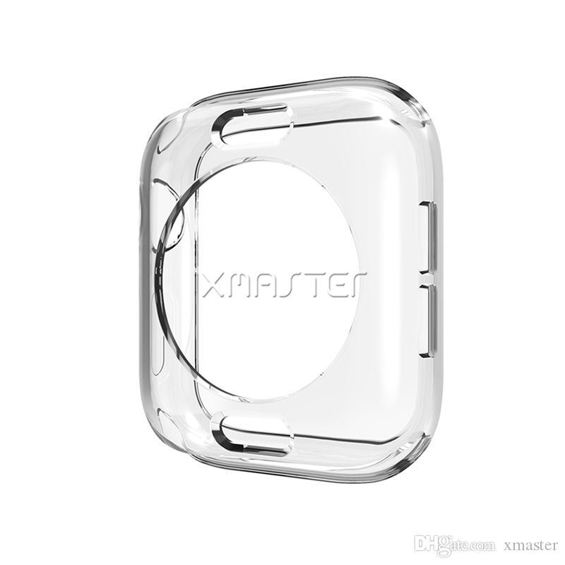Para iWatch Claro cubierta de parachoques suave capítulo de TPU transparente para Apple Seguir Serie 4 3 2 44 mm 40 mm 38 mm 42 mm con el empaquetado al por menor