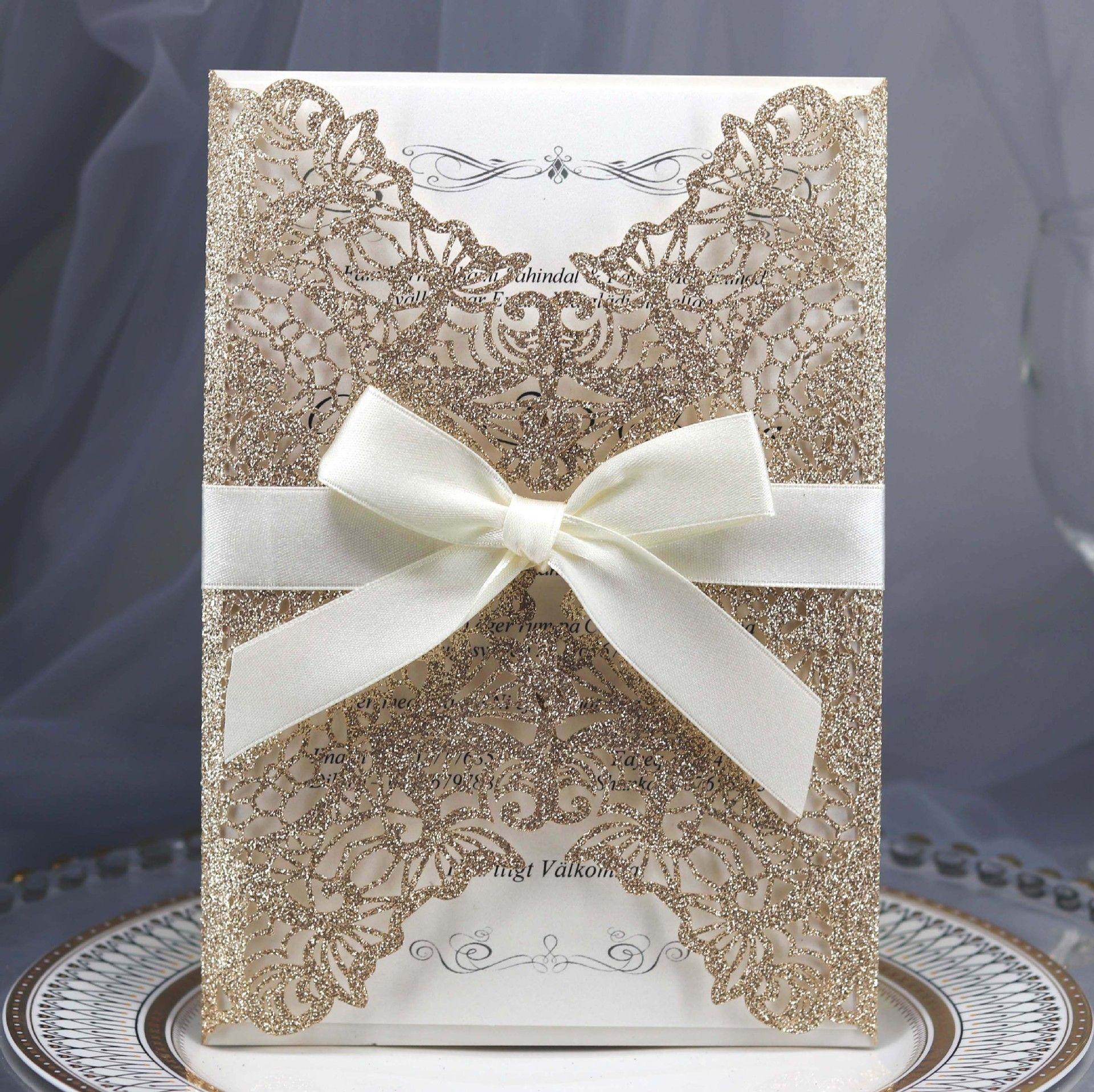 Wedding Invitation Envelopes Canada: Cheap Dark Royal Blue Laser Cut Wedding Invitations Cards