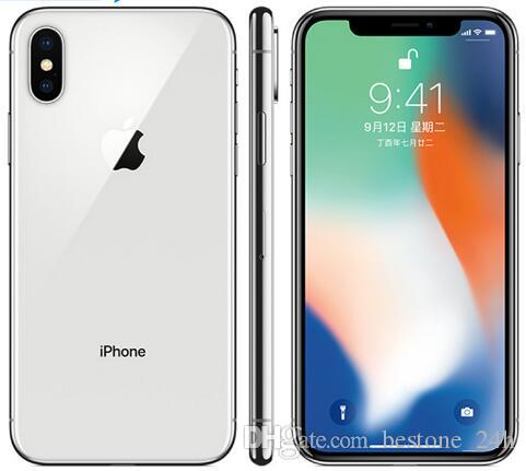 Original unlocked Apple iphone X 64GB/256GB ROM 3GB RAM Face ID 12MP 5.8 inch 2716mAh Hexa Core iOS 4G LTE refurbished Mobile Phone