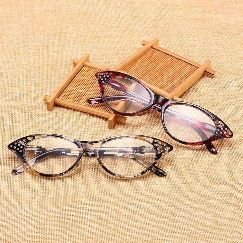 1f0712c0ae Half Frame Reading Glasses Women Cat Eye Optical Mirror Glasses Anti ...