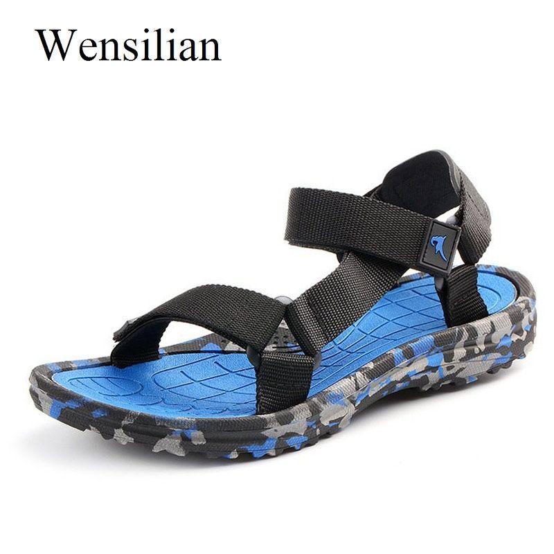 b2f7f76a6ba Compre Sandalias De Verano Para Hombre Sandalias De Gladiador De Camuflaje Chanclas  Zapatillas De Playa Para Hombre Zapatillas Diapositivas Zapatos Planos ...