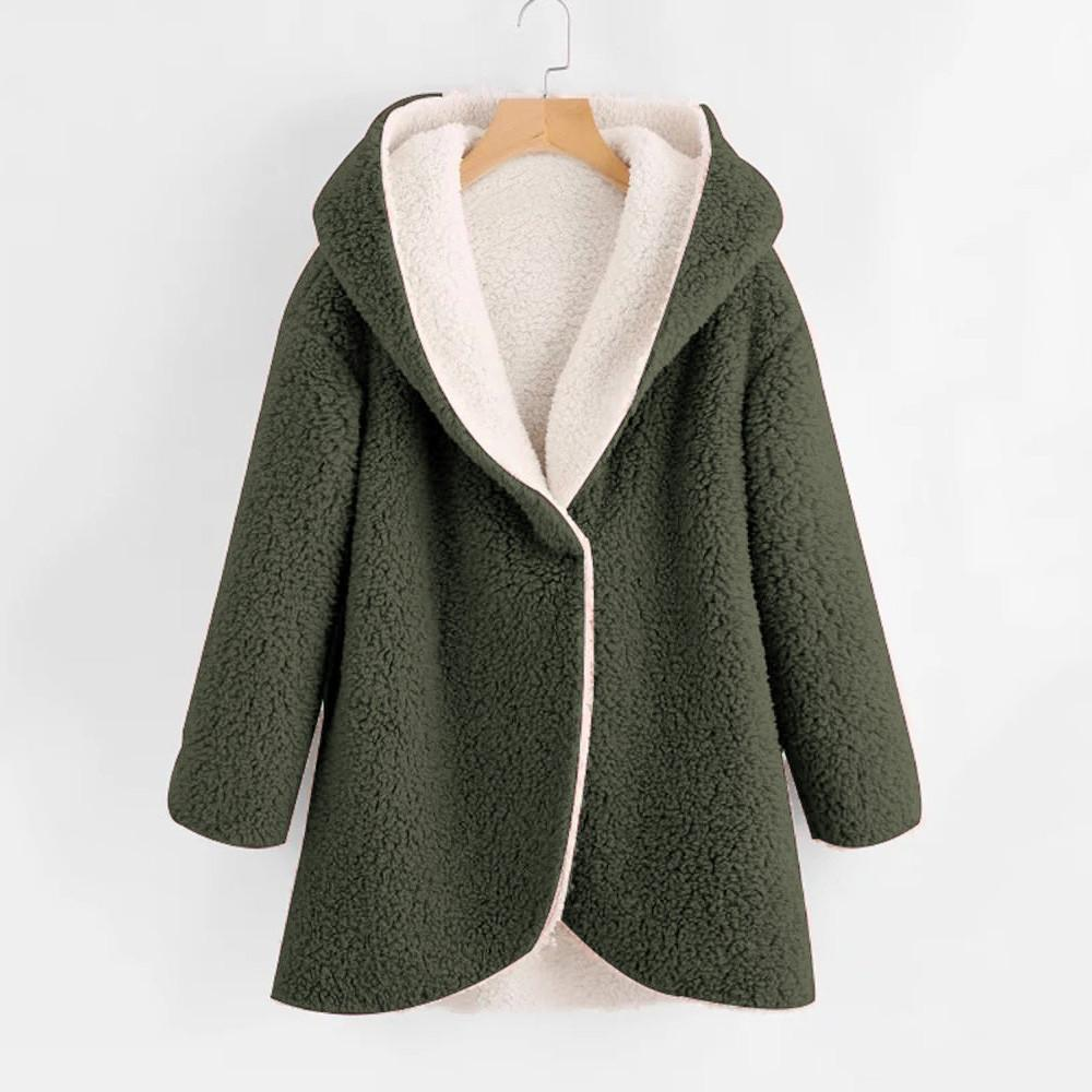 b4ae1e534af Fashion Winter Women S Warm Wool Cotton Coat Cardigan Jacket Curved  Heimlich Artificial Home Clothes Comfortable High Quality Black Jacket  Fleece Jackets ...
