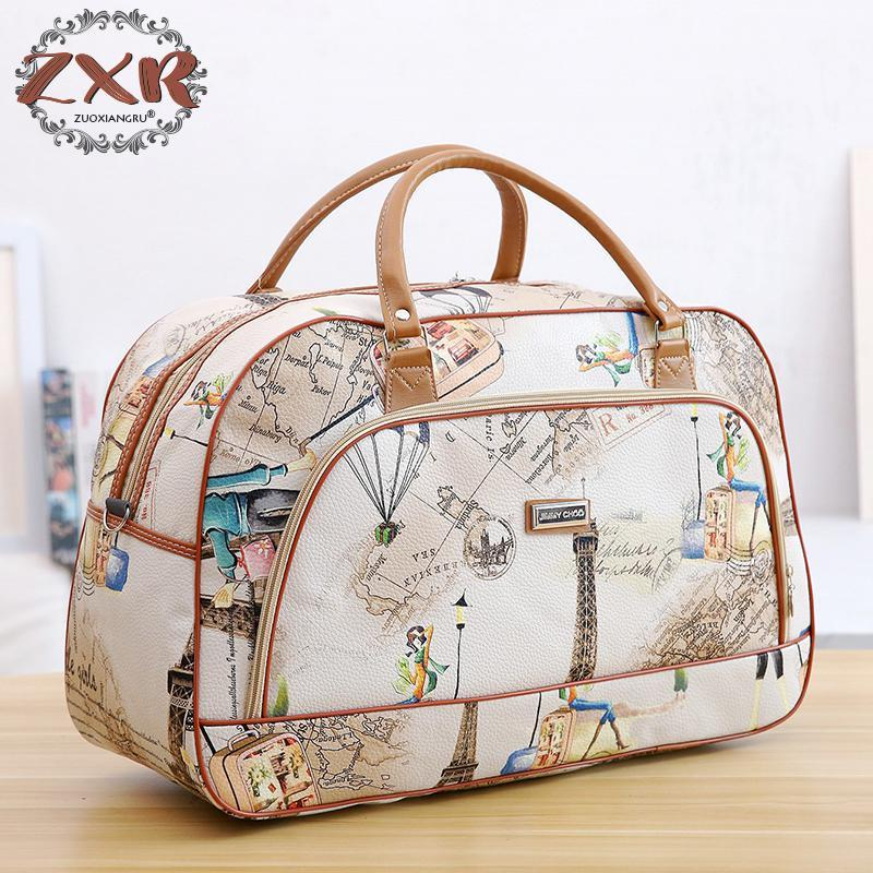 Zuoxiangru Fashion Women Travel Bags Pu Leather Large Capacity Waterproof  Print Luggage Duffle Bags Casual Portable Travel Bag Man Bags Satchel Bags  From ... 137d7084200ff