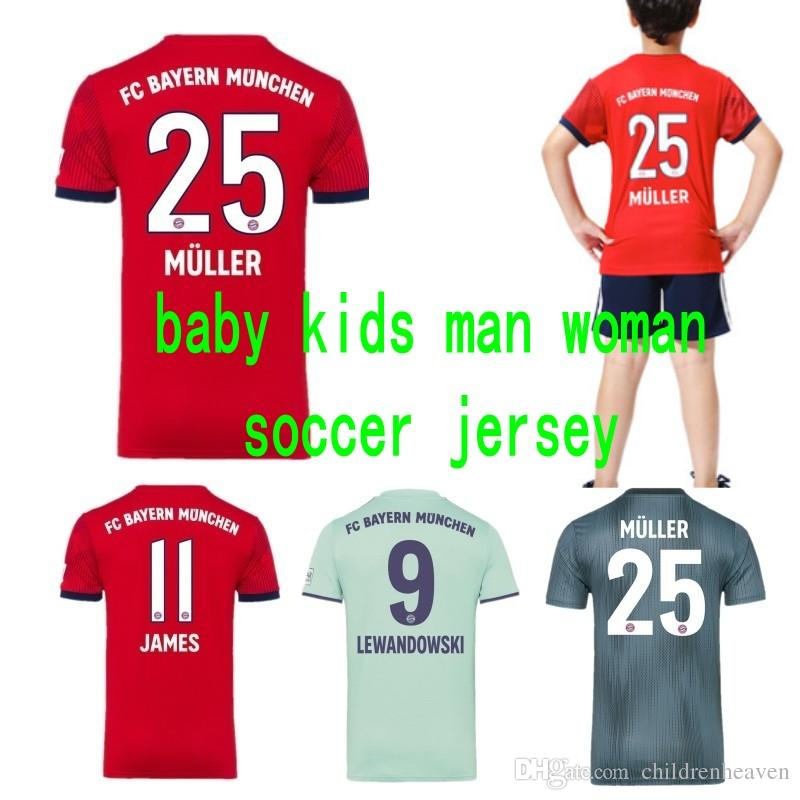 new product 5f3f6 b1cee baby infant boy designer clothes 18 19 Bayern Munich Soccer Jerseys JAMES  ROBBEN RIBERY football jersey boy girls adult Maillot De Foot