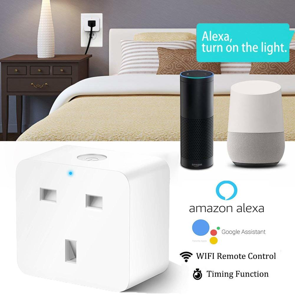 Homekit UK Smart Plug WiFi Outlet Smart Home Socket Switch Compatible with  Amazon Alexa Google Home Assistant IFTTT Socket