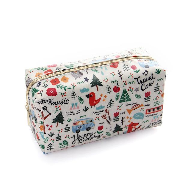 eddc5c4d54 2019 Sweet Floral Cosmetic Bag Travel Organizer Animal Beauty Case Kit Mini Purse  Makeup Pouch Make Up Washing Toiletry Bag CN285 From Gor2doe