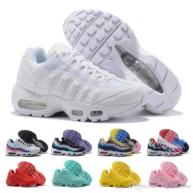 95 Running Shoes For Womens Men Neon Grape Panache Greedy 95s Triple White  Black Yellow Red Designer Sports Sneakers 36 46 Running Store Sports Shorts  From ... 77110c20b