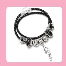 DINGLLY Cartoon Mickey Charm Bracelet For Women Girls Boys DIY Mickey Beads Pandora Bracelet & Bangle Jewelry Friendship Gifts