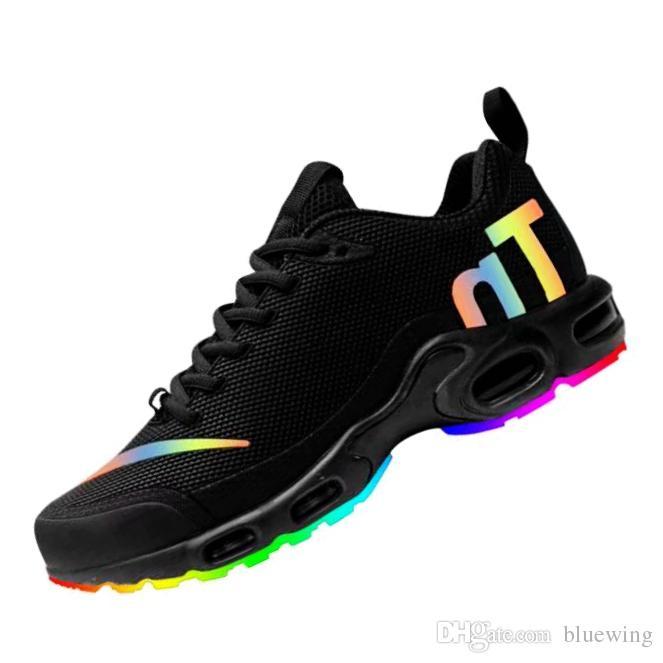 buy popular 68cff b4f96 Acheter Nike Air Max Plus TN Nouveau!! 2019 Mercurial Plus TN KPU Coloré  Série Chaussures De Course Pour Hommes Triple En Plein Air Jogging Sneaker  Designer ...