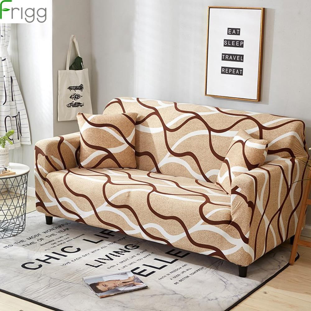 Frigg Elastic Sofa Cover Fabric Modern Corner Sofa Cover Stretch Sectional  Couch Covers Slipcover 1/2/3/4 Seat Home Decor