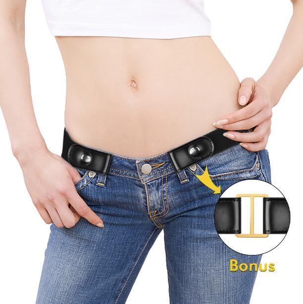 Compre Cinturón Sin Hebilla Para Pantalones De Mezclilla b450967ddc16