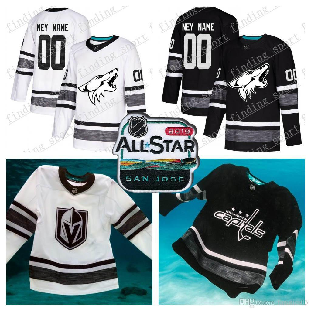 Customized Men Women Youth Arizona Coyotes 2019 All-Star Game Parley  Authentic Hockey Jersey White Black 16 Domi 65 Karlsson 61 Stone 68 2019  All-Star ... 9c553fb58