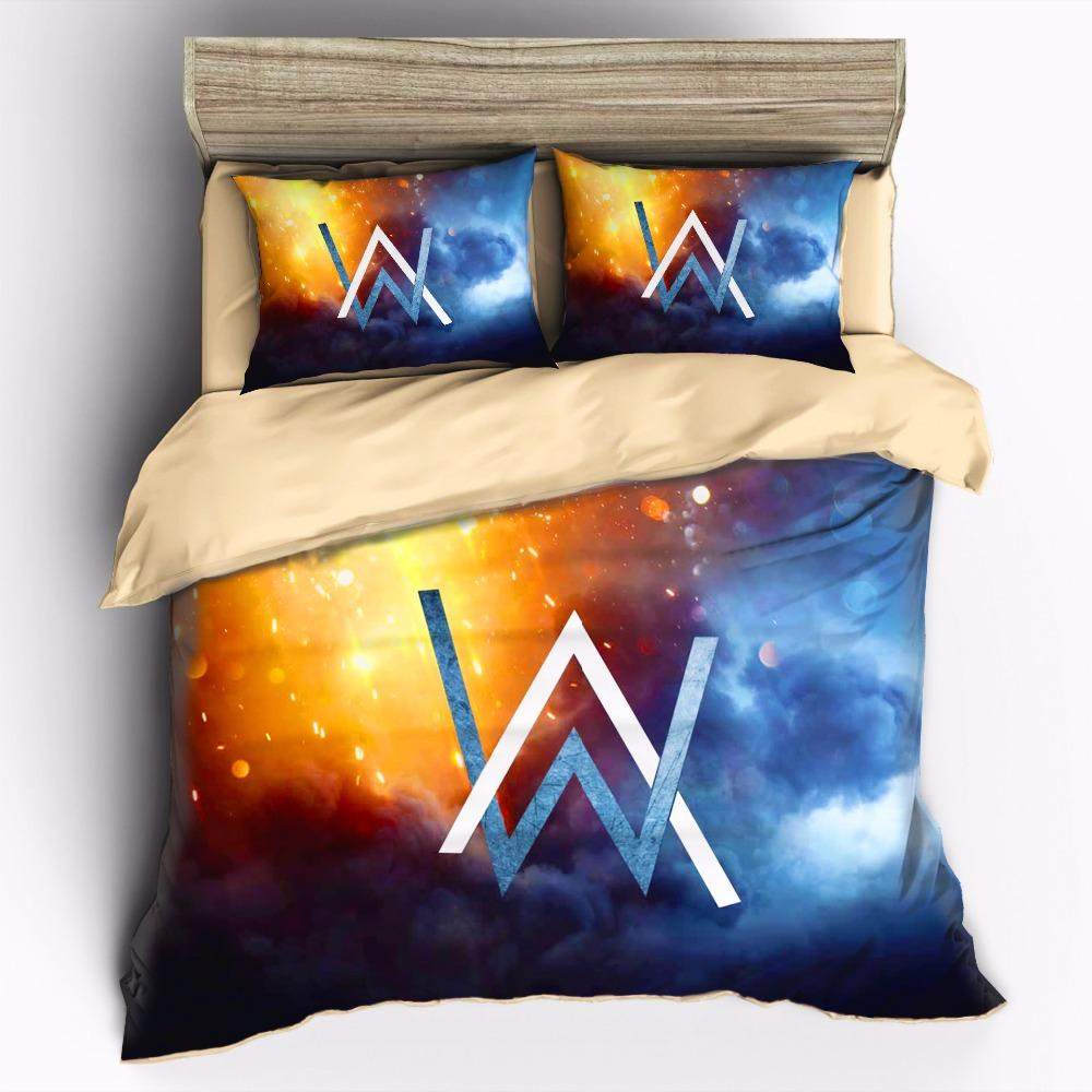 AHSNME Singer-Art Alan Walker high-definition print bedding set King Quenn  Full Double Twin Quilt cover set