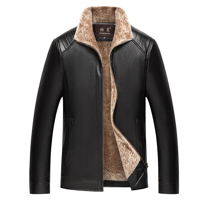 07ee8caee6df Chaquetas de cuero para hombre Chaqueta de los hombres Chaqueta de  motocicleta clásica de alta calidad para hombre más el tamaño 4xl grueso  Outwear ...