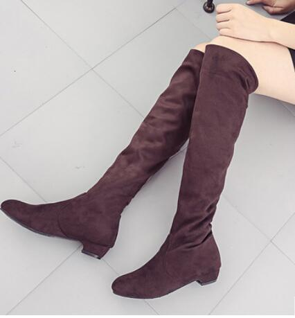1a12268a4 2019 New Winter Thigh High Boots Women Shoes Over The Knee Boots Flat Long  Ladies Rubber Zapatos De Mujer Botas Boots Sale Wedge Boots From Serady
