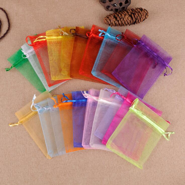 5x7cm Small Size Colorful Organza Bag Little Drawstring Pouches For Jewellery Necklace Ring Bags Jewelry Gift Pouch