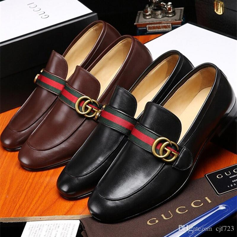 49ea443b11a 2019 Styles Man Pointed Toe Dress Shoe Italian Designers Mens Dress Shoes  Genuine Leather Black Luxurious Wedding Shoes Men Low Heel Shoes Mens  Casual Shoes ...