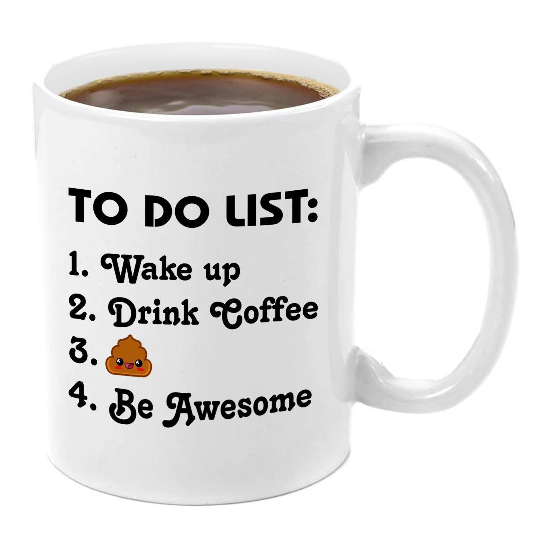 To Do List   Premium 11oz Coffee Mug Set Fun Free Quotes ...