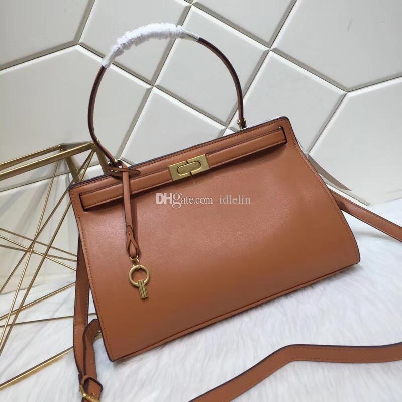 2019 Latest Fashion Hot Sale Lady OL Handbag Woman High Quality Leather  Totes Luxury Toris Design Lee Lock Bags T B Large Shopping Bag Leather  Purses Cheap ... ed31da9b9a332