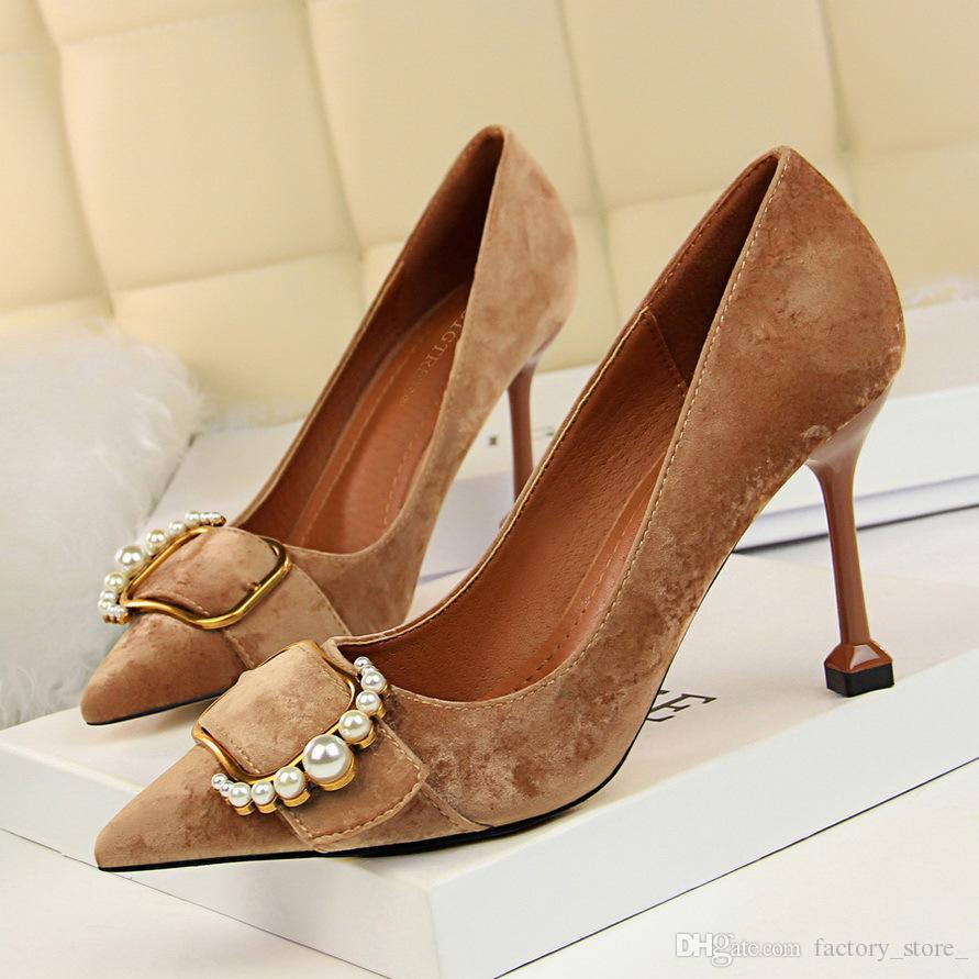 60bbafc46e6 Fetish High Heels Stiletto Brand Heels Sexy Shoes Office Shoes Women  Designer Heels Wedding Shoes Women Pumps Women Shoe Zapatos De Mujer Cute  Shoes Green ...
