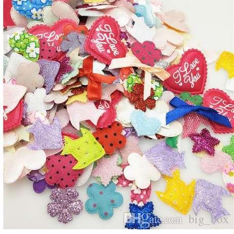 49ecd95a81d7 Compre 100 Unids Mezcla De Color Fieltro Acolchado Flores Apliques Artesanía  Costura A  2.32 Del Big box