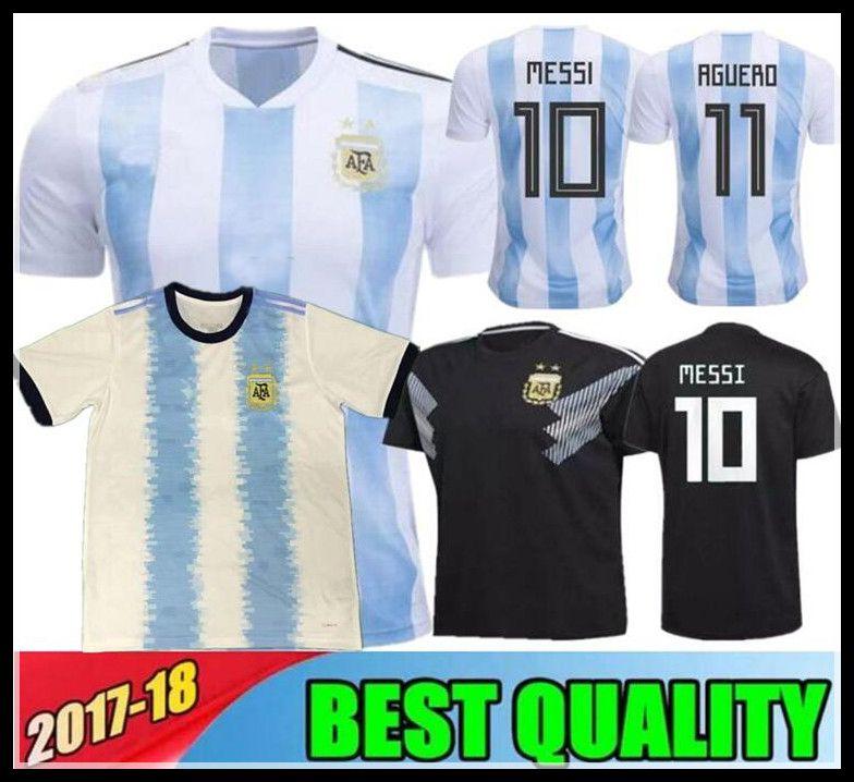 b9ad5824f1d87 Argentina 2018 Camiseta De Fútbol De Calidad Superior Argentina Casa Local  Jerseys DYBALA Camiseta De Fútbol Messi Aguero Di Maria Mascherano Uniforme  De ...