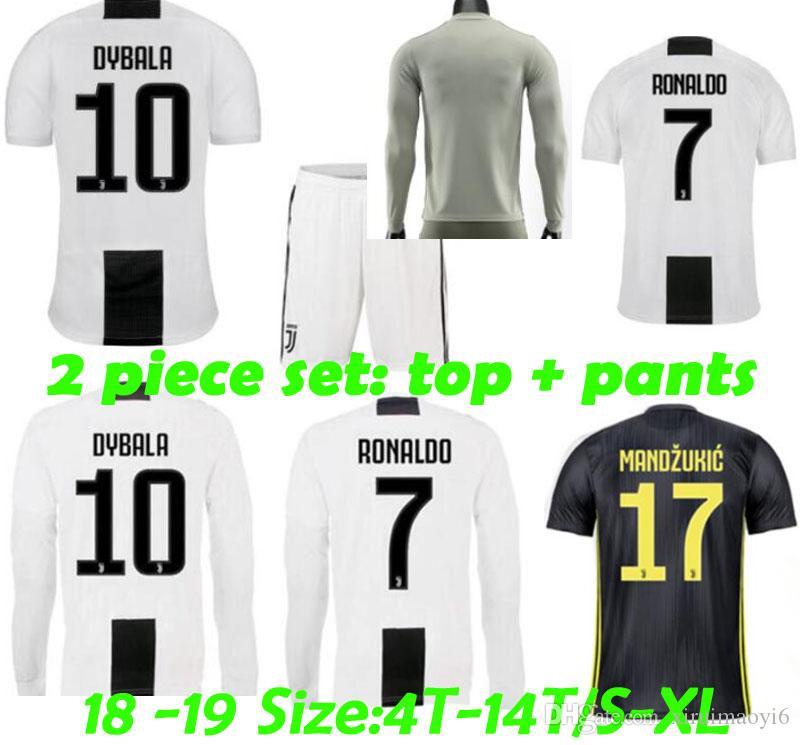 36e2e1dc14c 2019 New #7 RONALDO JUVENTUS Home Third Kit Men Kids Soccer Jersey 18 19  DYBALA JUVENTUS EA SPORTS JERSEY MANDZUKIC MARCHISIO Football Shirt From ...