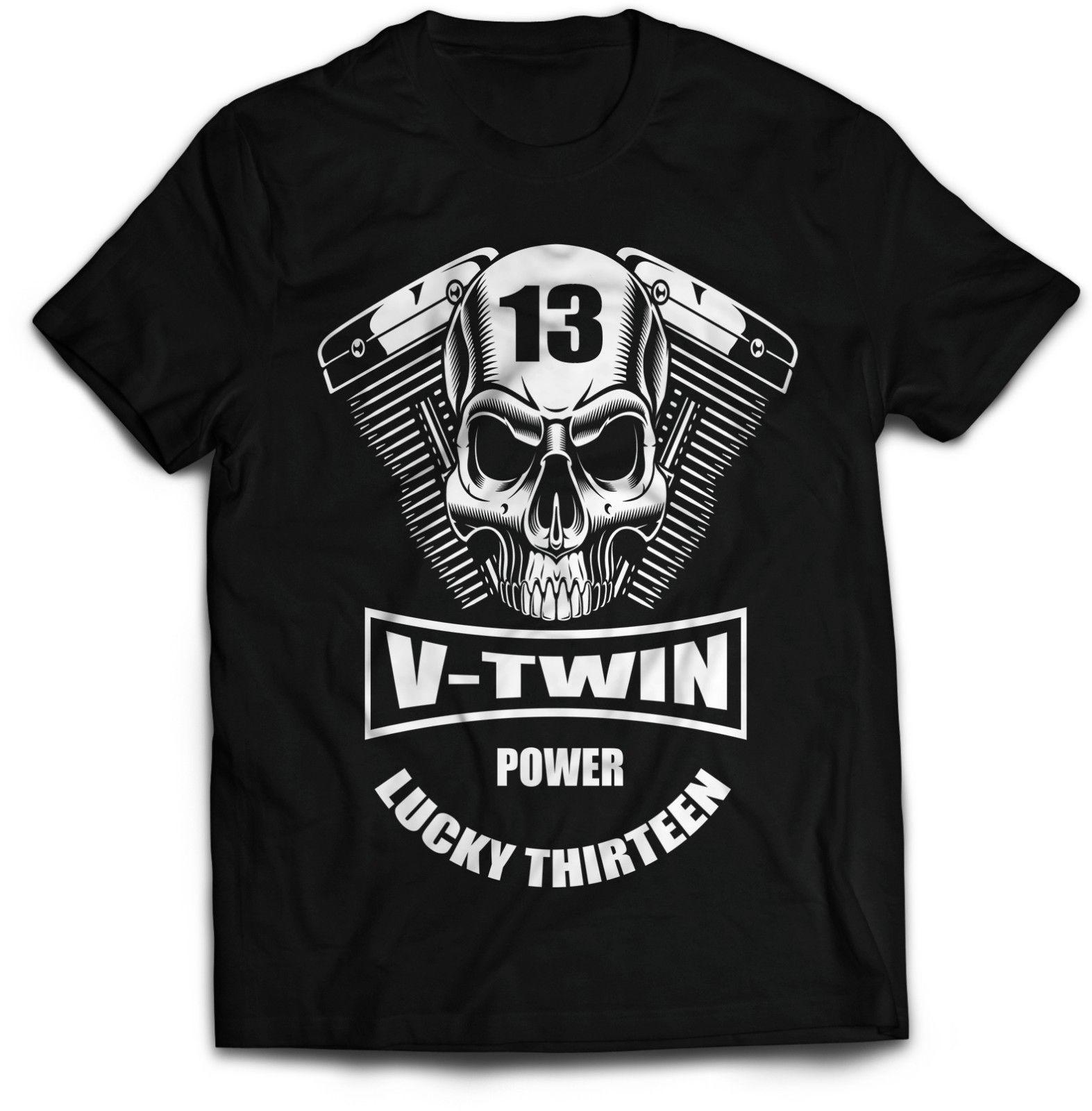 79f77b550 Biker T Shirt V Twin Power, Motorcycle Offensive Funny T Shirt Outlaw Lucky  13 Order T Shirts Quality T Shirts From Mentality80, $11.48| DHgate.Com