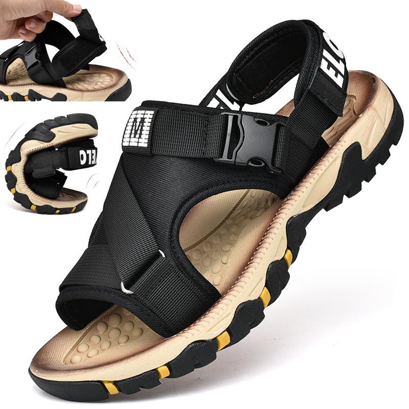 2019 Romanas Verano Hombre Versión Casual Sandalias Tendencia La Playa Tejidas Zapatos Libre Coreana Al Aire Nuevas Para De zpSMVU
