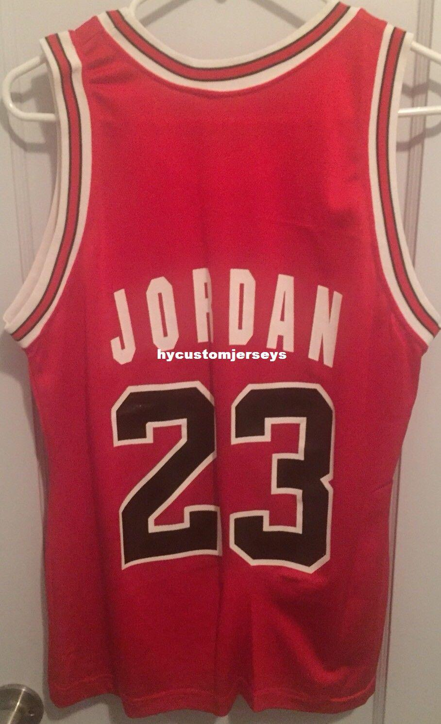 outlet store a0a63 6c5cc Cheap wholesale Michael Jersey Mj Champion Red #23 Basketball T-shirt vest  Stitched Basketball jerseys Ncaa
