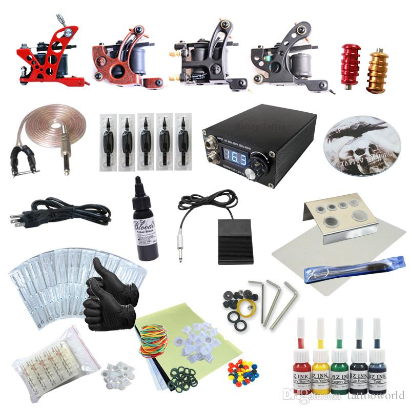 Good Quality Best Price Complete Tattoo Kit 4 Liner Shader Machine