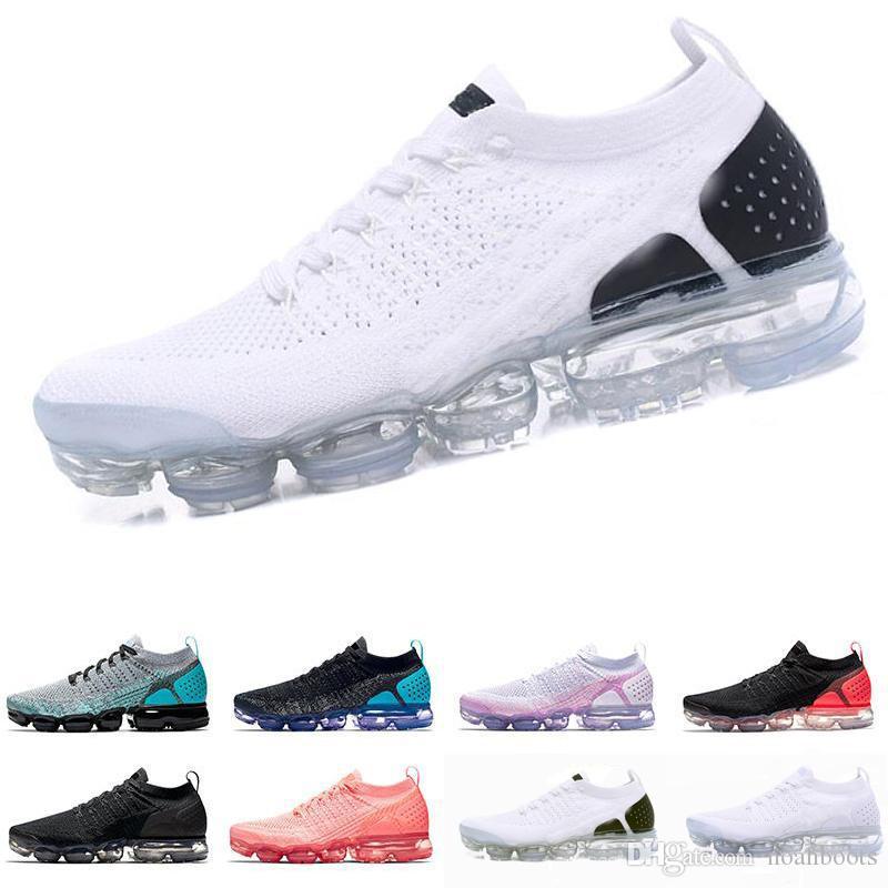 nike air max airmax vapormax flyknit 2.0 2018 Nouvelles couleurs 2.0 Fly Knit Fluorescence Vert Sport Chaussures de course pour Haute qualité 2