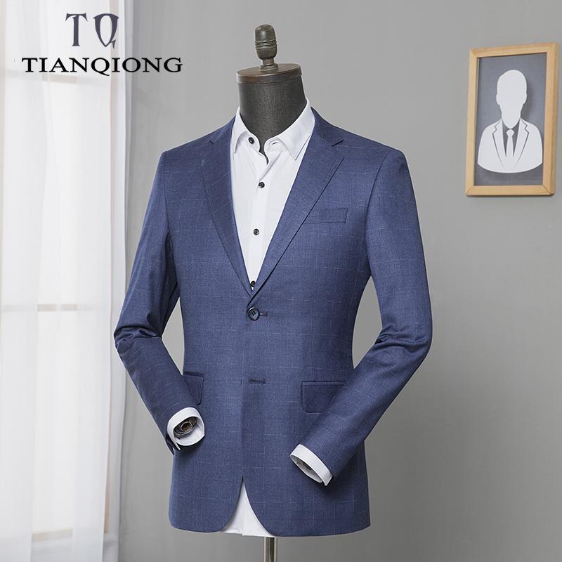 buy online 970ce de788 TIAN QIONG Marke 2019 SpringAutumn Herrenbekleidung Anzug Blazer Slim Fit  Masculine Blazer Casual Blau Plus-Größe M-3XL