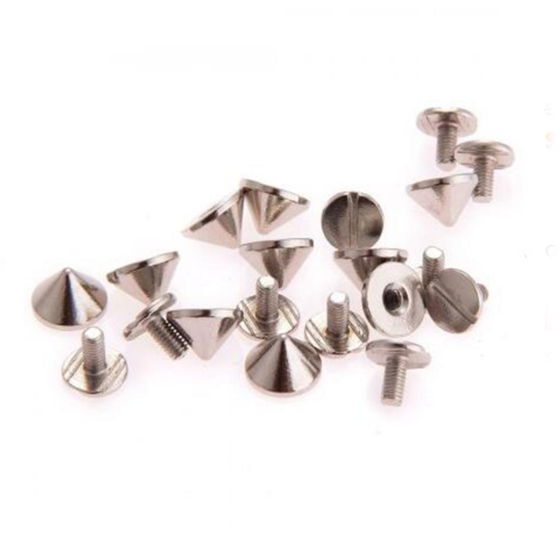 Lovely Gun Bullet Studs And Spikes For Clothe Punk Garment Rivets Cone Studs DIY Garment Rivets For Leather 9.5x6mm