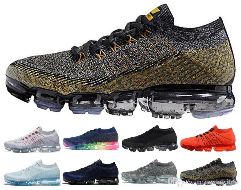 692b1bfc031a Air Cushion 2019 2018 BE TRUE Weaving Athletic Walking Sneakers Men Women  Chaussures Trainers Designer Running Shoes 36 45 UK 2019 From Renrenxinfu